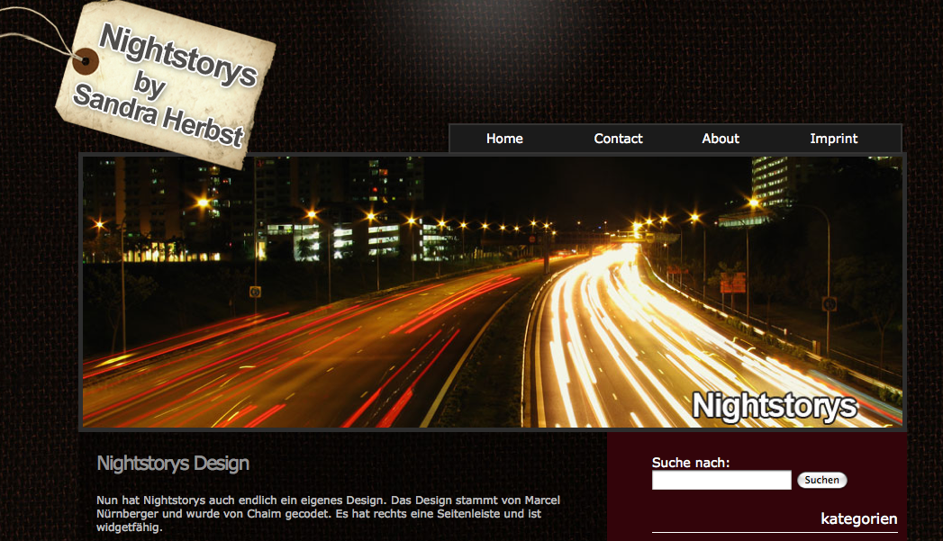 Nightstorys WordPress Theme - netheweb.de
